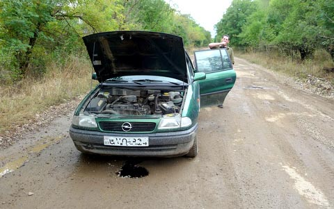 Mein schöner metallicgrüner Opel Astra!