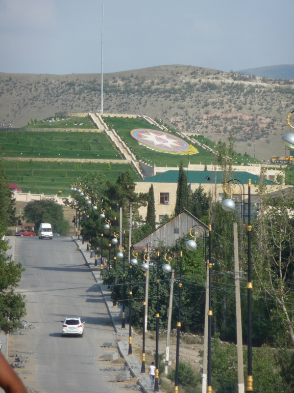 Flaggenplatz in Göygöl (AZ)