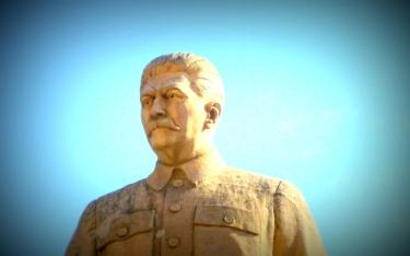 Stalin Statue im Stalin Musem in Gori.