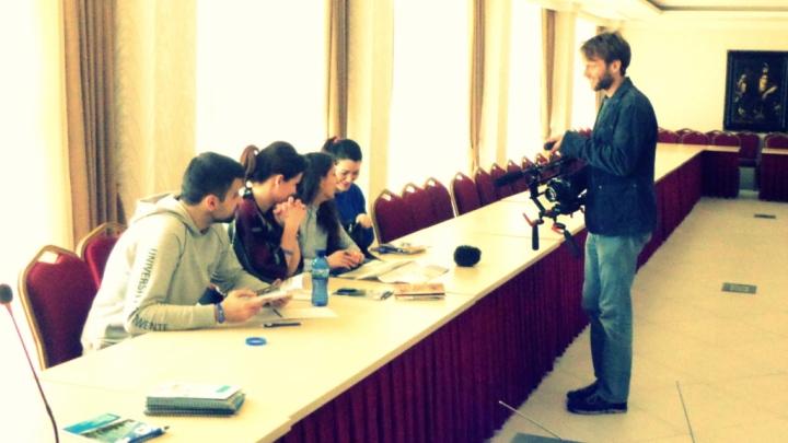 Während CCC5 in Batumi 2015 filmt Julien Diebel für seinen Dokukmentarfilm